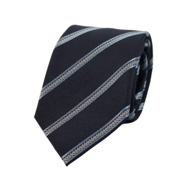 Emporio Armani chevron stripe tie