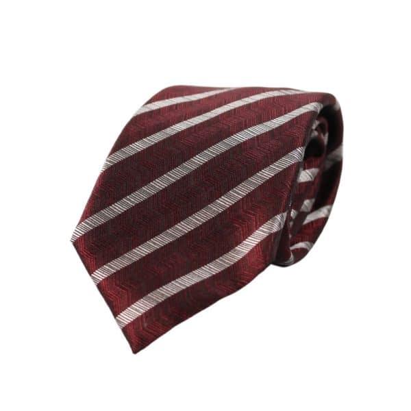 Emporio Armani jaquard stripe Tie Red