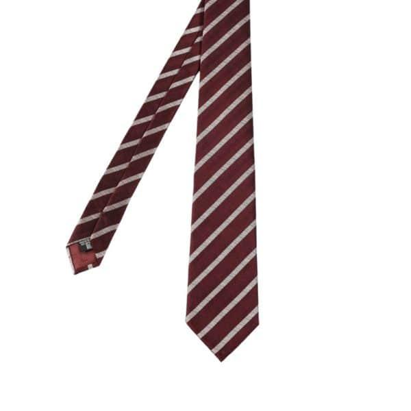 Emporio Armani jaquard stripe Tie Red main