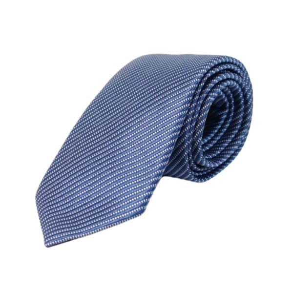 Emporio Armani microstripe blue tie