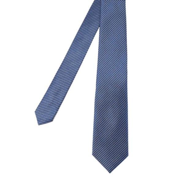 Emporio Armani microstripe blue tie main