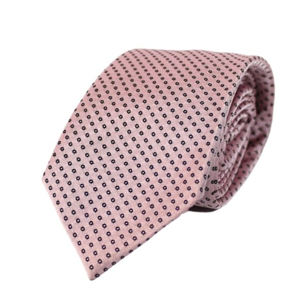 Emporio Armani pink dot tie