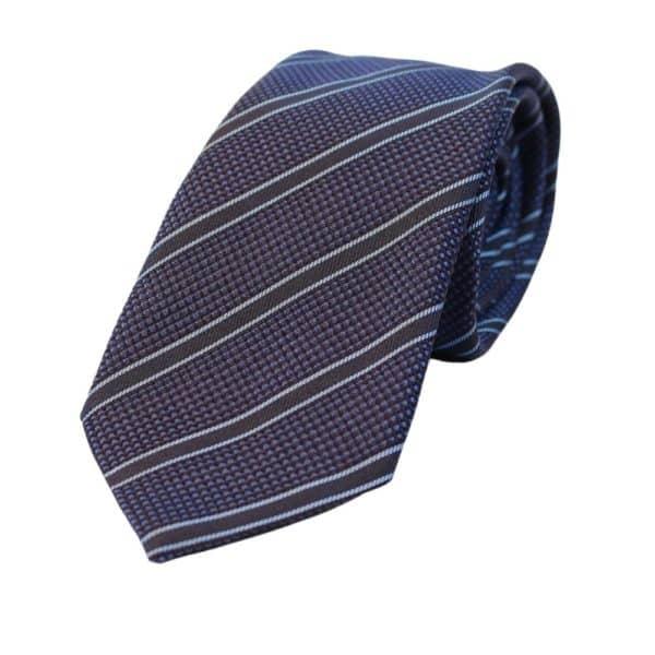 Emporio Armani regimental blue tie