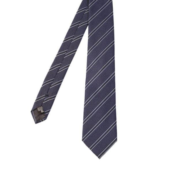 Emporio Armani regimental blue tie main