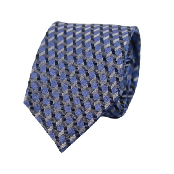 Emporio Armani tie barbed blue