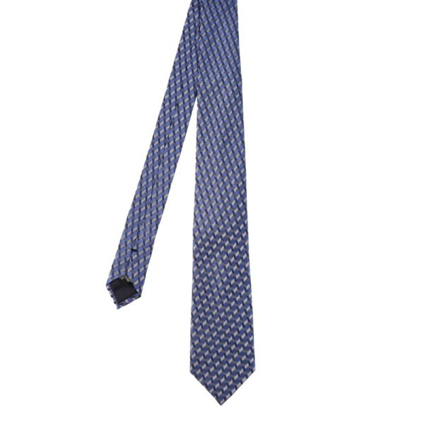 Emporio Armani tie barbed blue main