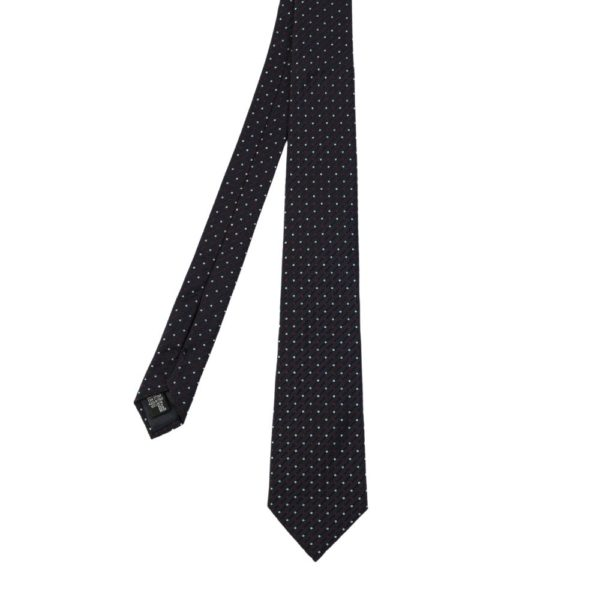 Emporio Armani tie mixed dots navy main
