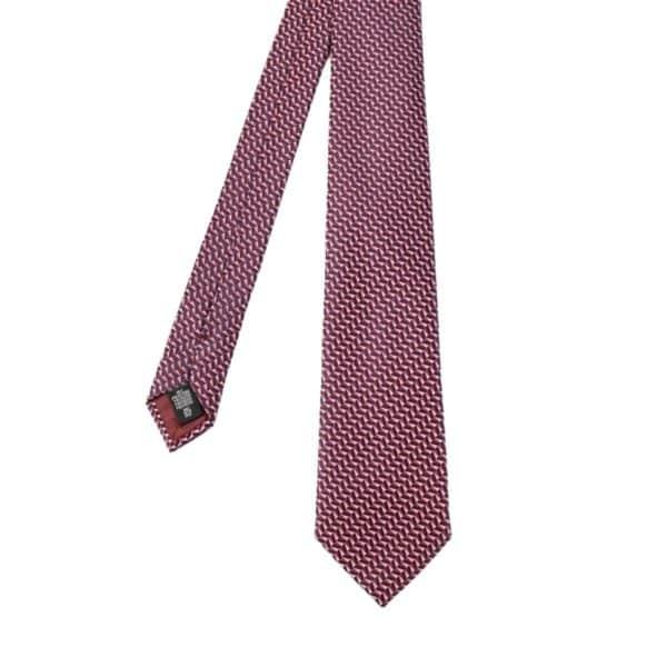 Emporio Armani tie pink geometric pattern