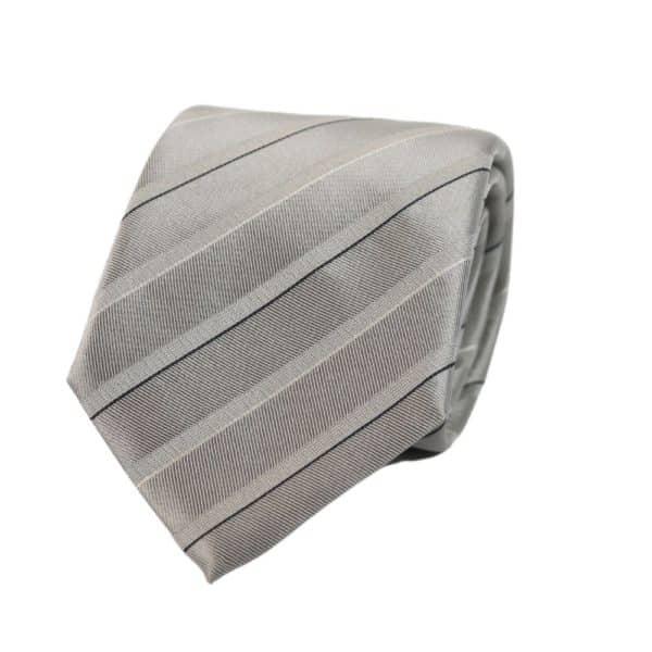 Emporio Armani tie silver stripe
