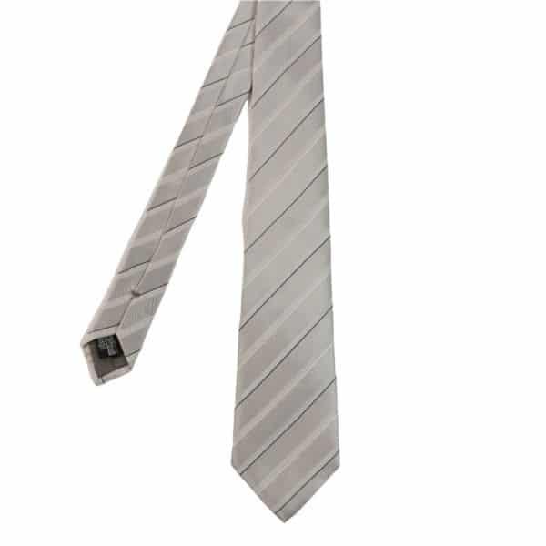 Emporio Armani tie silver stripe main