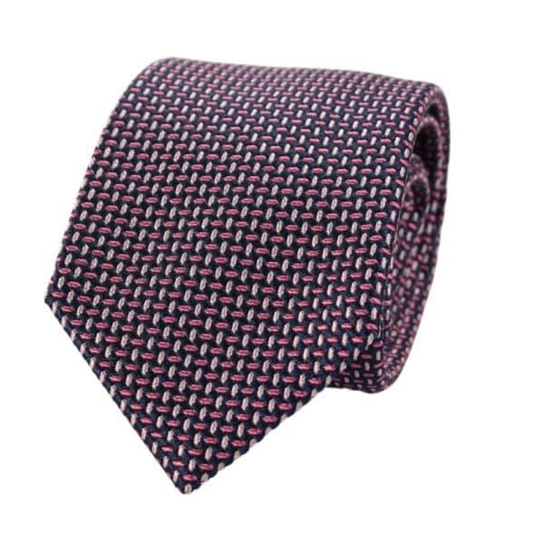 Emporio Armani tie weave navy pink