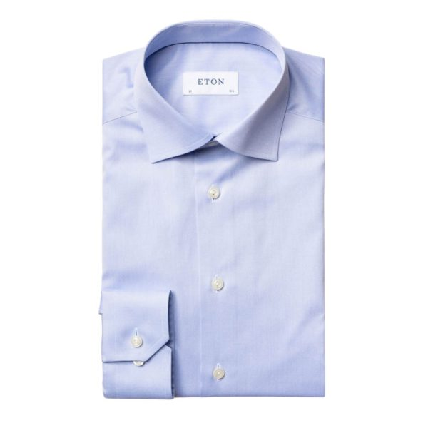 Eton Shirt light blue signature twill