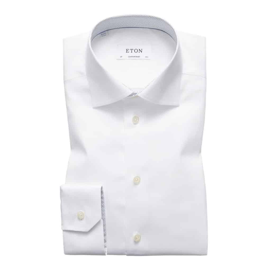 Eton Shirt micro print geometric details white