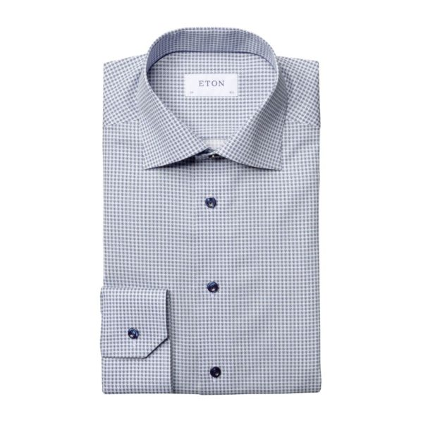 Eton shirt Blue micro flower