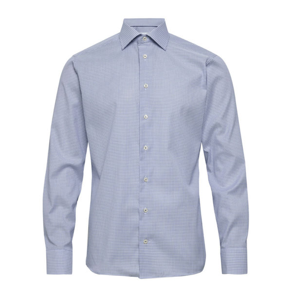 Eton shirt Blue micro woven dobby contemporary fit