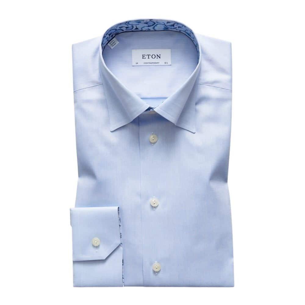 Eton shirt blue papyrus collar insert