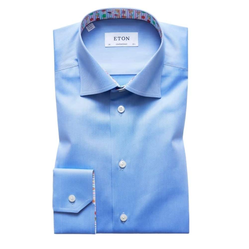 Eton shirt ice cream insert blue