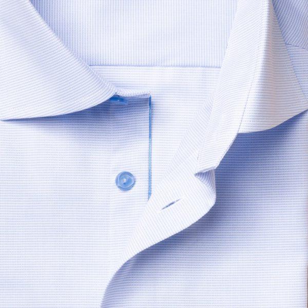 Eton shirt light blue and white twill