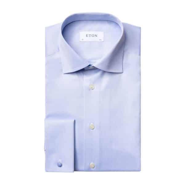 Eton shirt light blue shirt french cuff
