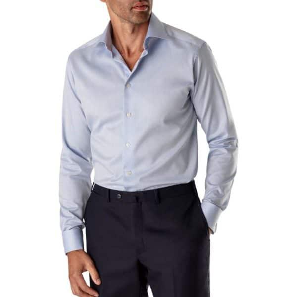 Eton shirt light blue shirt french cuff 1