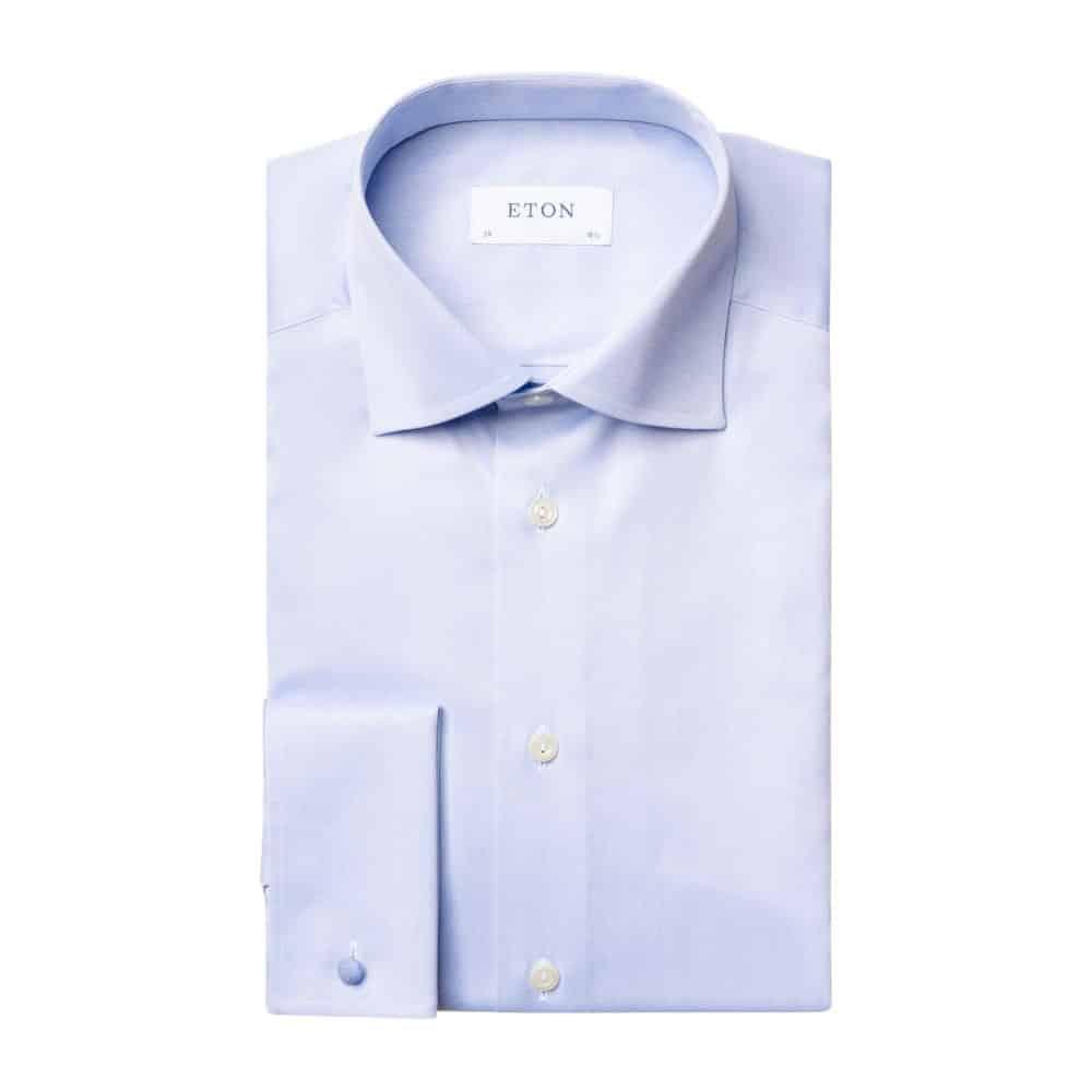 Eton shirt melange sky blue