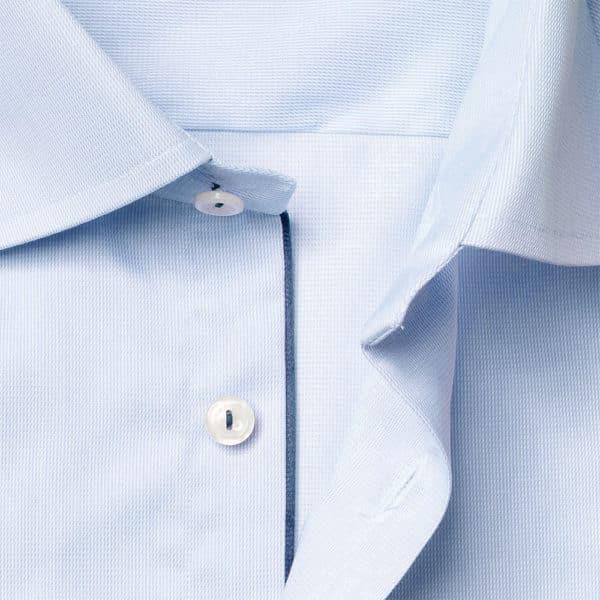 Eton shirt royal twill blue collar