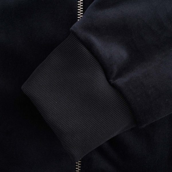 Full Zip Chenille Sweatshirt Navy 3