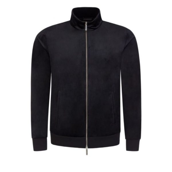 Full Zip Chenille Sweatshirt Navy