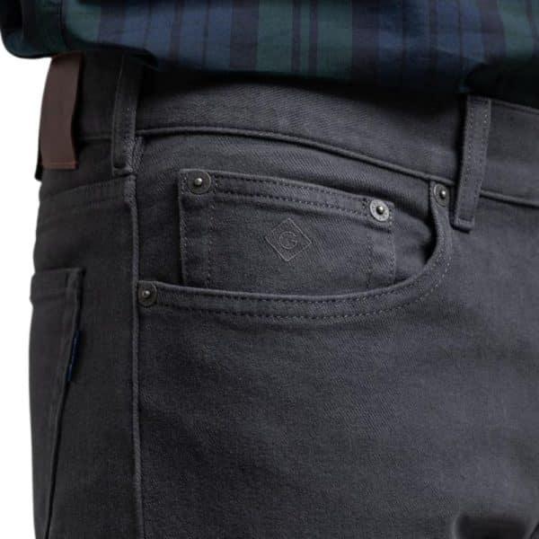 Gant Jeans twill anthracite 1