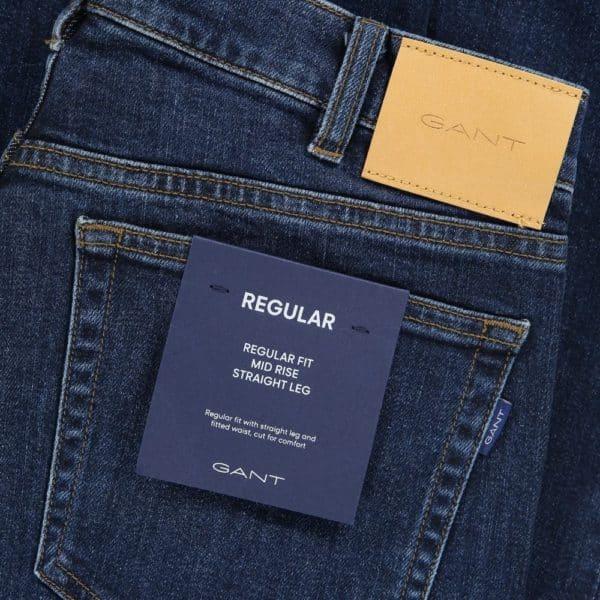 Gant regular fit blue jeans 4