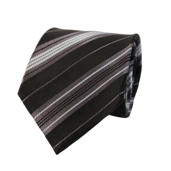Giorgio Armani tie stripe black grey