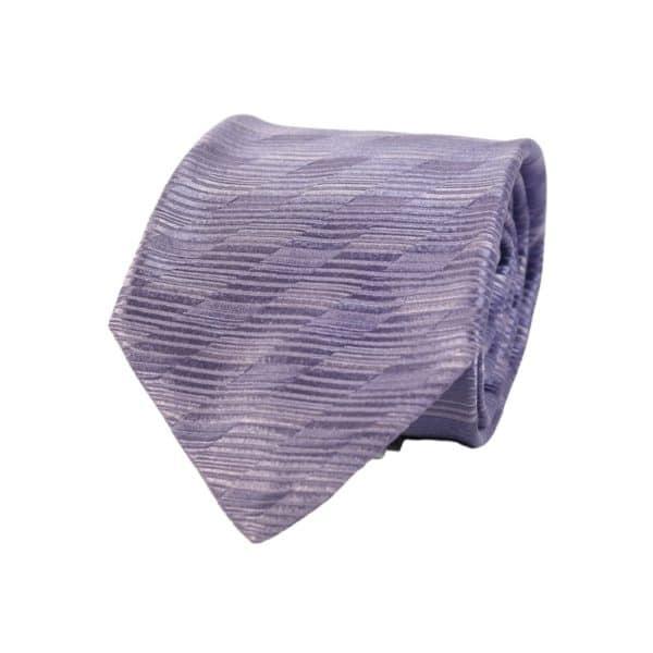 Giorgio Armani tie stripe lilac 1