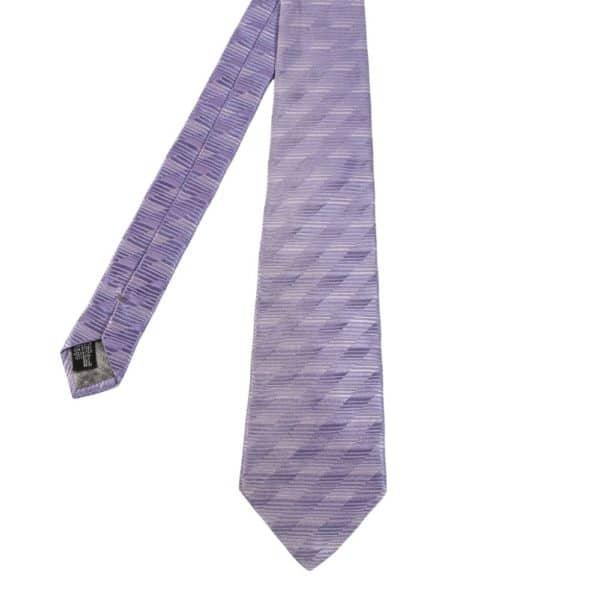 Giorgio Armani tie stripe lilac main 1