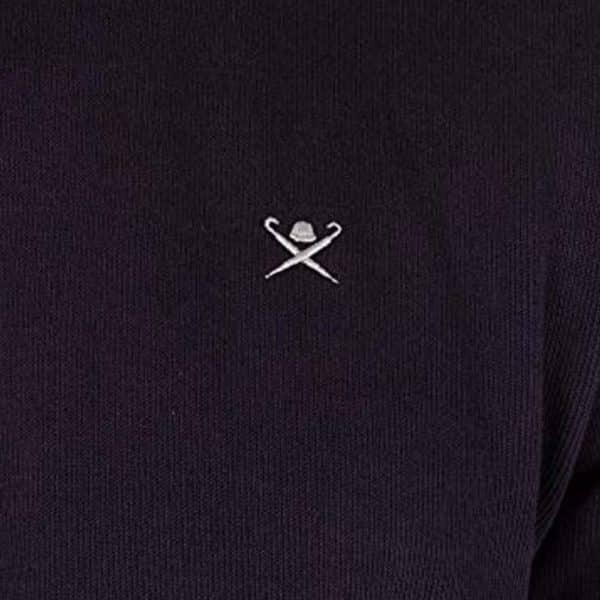 Hackett Mens French Rib Zip Sweatshirt Blue logo