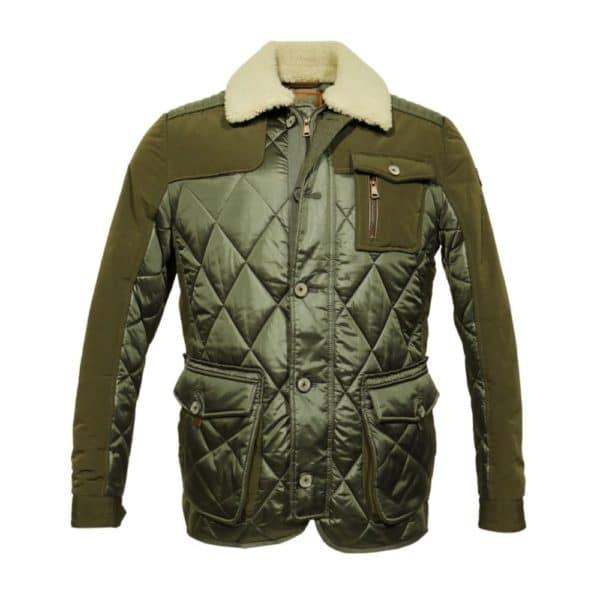 Handstich Green jacket front