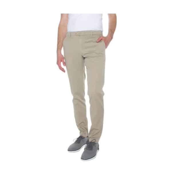 MMX Lupus Beige Stripe Trouser Front
