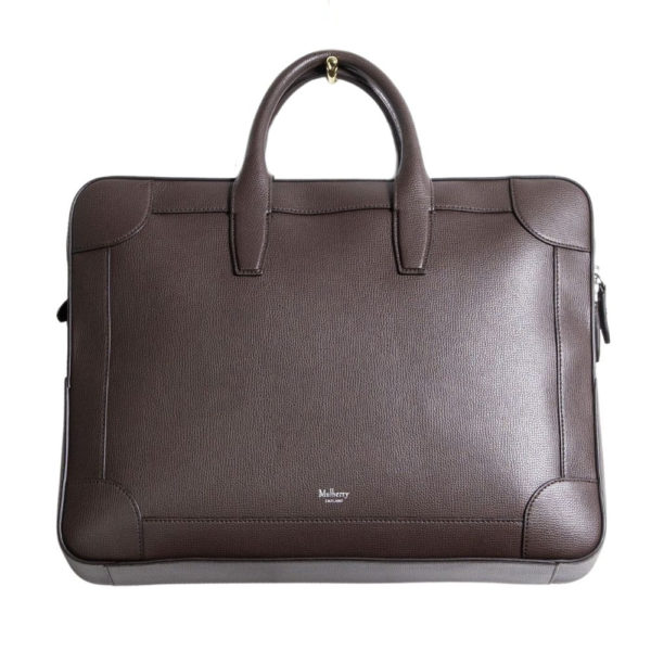 Mulberry Belgrave Double Document Holder Front Chocolate