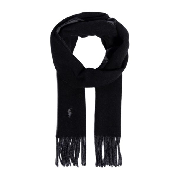 POLO Ralph Lauren Black Grey Scarf Open