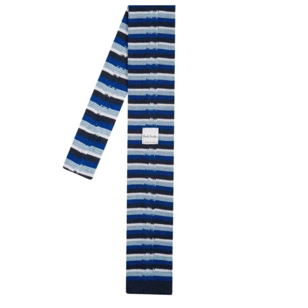 Paul Smith Knitted tie navy back
