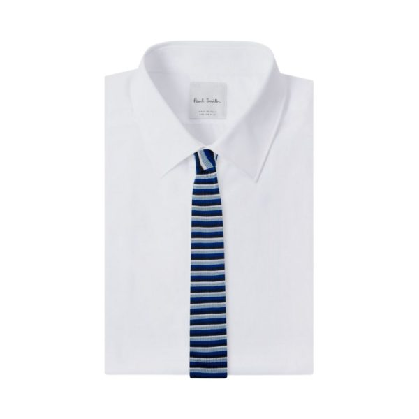 Paul Smith Knitted tie navy shirt