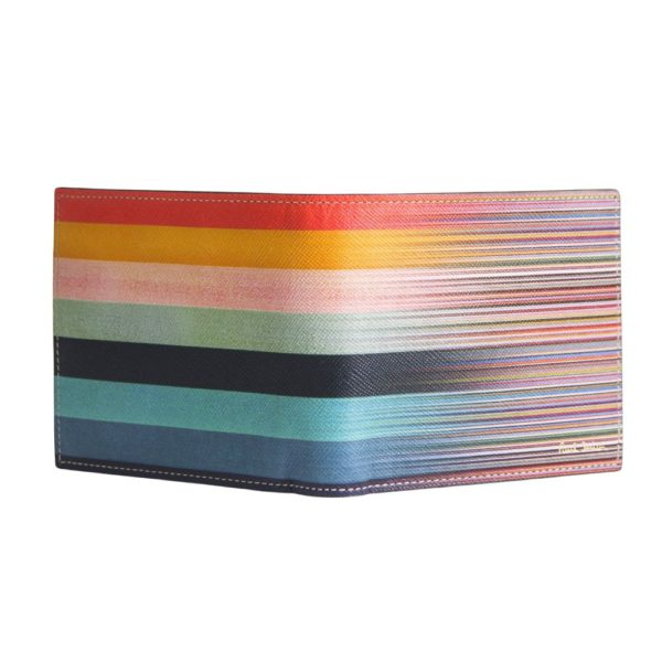 Paul Smith Mixed Stripe Wallet front open