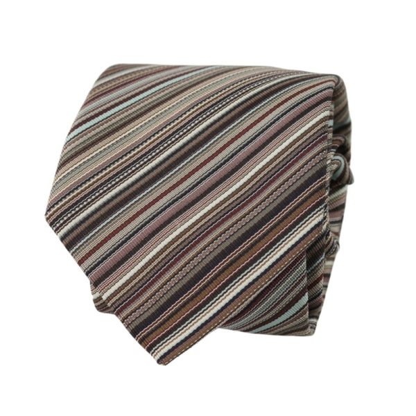 Paul Smith Multi Stripe Tie Grey 2