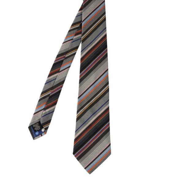 Paul Smith Multi Stripe tie grey orange 1 1
