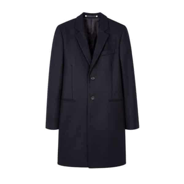Paul Smith Navy overcoat Front