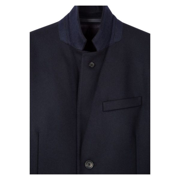 Paul Smith Navy overcoat collar
