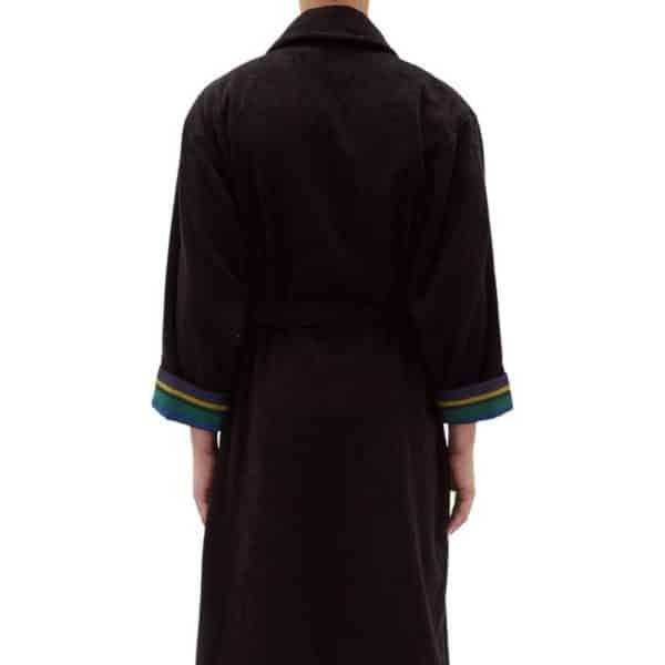 Paul Smith Zebra Cotton Towel Dressing Gown Black back