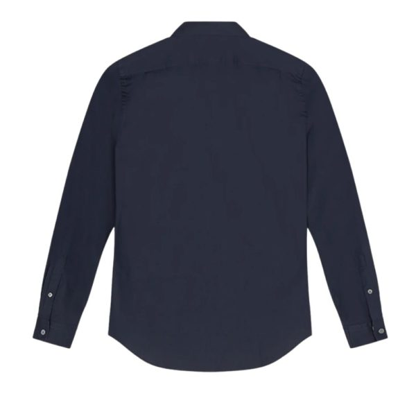 Paul Smith mens tailored shirt navy back