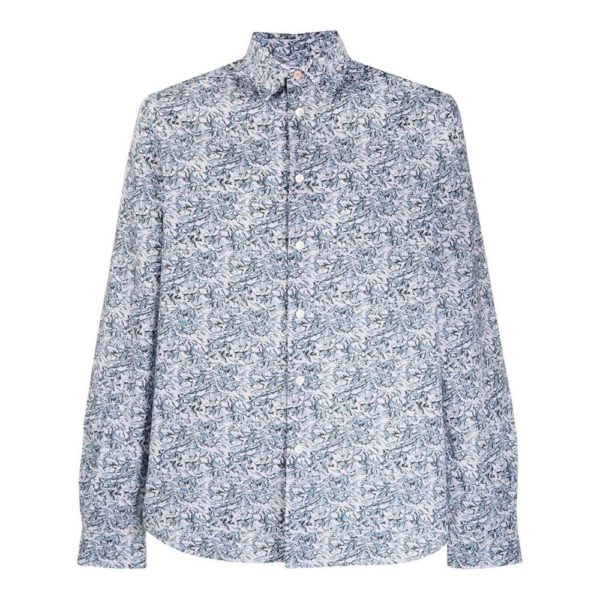 Paul Smith mountain print shirt white