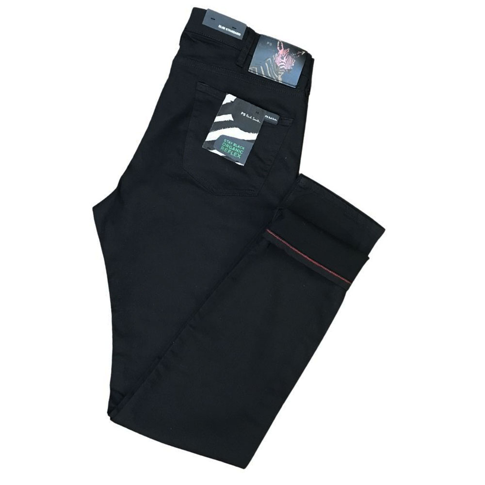 Paul Smith slim fit organic reflex black jeans