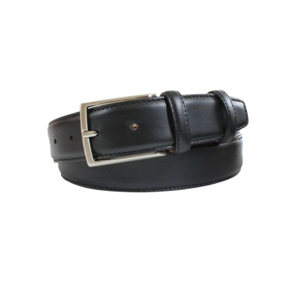 ROBERT CHARLES CALF SKIN BLACK BELT